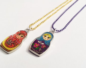 Sale! Russian Doll Necklace