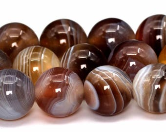 "8MM Botswana Agate Beads Grade AAA Genuine Natural Gemstone Full Strand Round Loose Beads 15"" BULK LOT 1,3,5,10 and 50 (101909-428)"