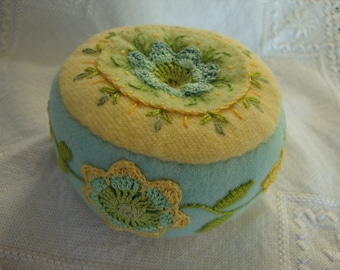 pincushion in Spring colors 1
