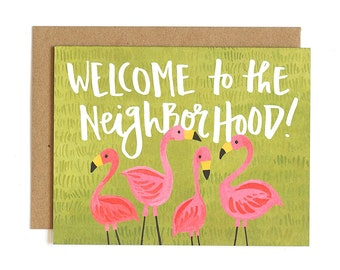 Welcome to the Neighborhood Illustrated Card // 1canoe2