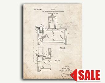 Patent Art - Snow Cone Machine Patent Wall Art Print