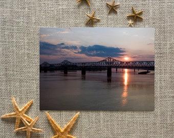 Kentucky Bridge at Sunset Note Cards (set of 8)