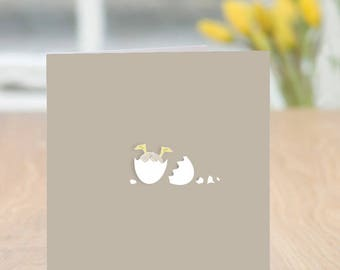 Stuck - Cute and Quirky Duckling Card (Blank Inside) - perfect for Spring,  Easter or a New Baby