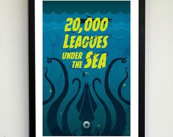 Twenty Thousand Leagues Under the Sea Poster Print
