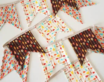 CLEARANCE | Square Fabric Bunting | Into the Woods Flags | Baby Shower Bunting | Woodland Bunting | Garland | Woodland Square BuntingW