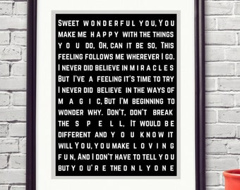 Fleetwood Mac You Make Loving Fun Song Lyric Art Bestie College Student Moving Away Gifts Sentimental Gifts 1 Year Anniversary Printables