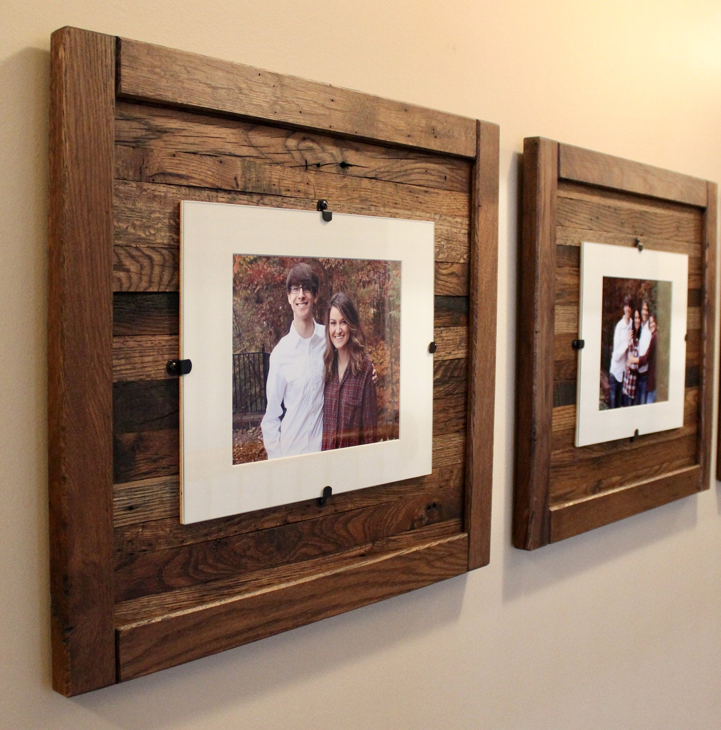Reclaimed Wood Frames Rustic Wood Frames Set Of 2 5 X 7