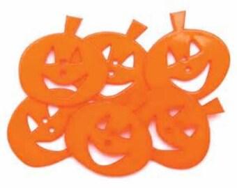 SET of 6 2 Hole Halloween Pumpkin Sewing Buttons