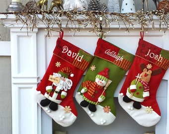 Children's Santa 3D Stocking with Free Personalization