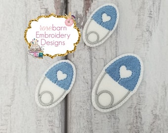 Digital Heart Safety Pin felt design, embroidery, felt design, machine embroidery