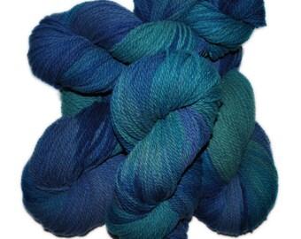 Hand dyed yarn - Columbia Wool yarn, Worsted weight, 170 yards - Laga