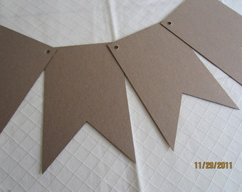 Pennant DIY Chipboard Banner Blanks-5 x 8- Banner Shapes for Decorating-Unfinished Banners for Parties-DIY Garlands-Ready To Decorate Banne