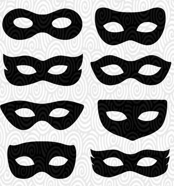Cricut plantilla superhéroe ojo máscaras Masquerade no silueta