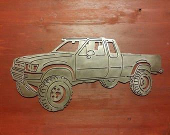 Pickup Truck Metal Art