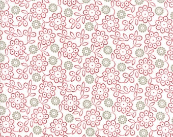 Project Red (5684 31) Taupe Red Dot Flower by Sweetwater