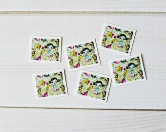 Decorative fridge magnets, bulletin board, art magnet, whimsical girl, refrigerator magnet, original painting, fridge art , free girl magnet