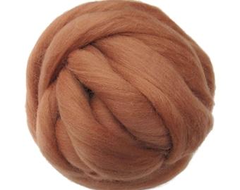 New! 21.5mic Merino Wool Roving , Color: Nude