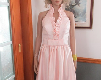 Womens  Pink Halter Dress ~ Sundress  Allure ~  Size 10~  Vintage Formal  Sundress