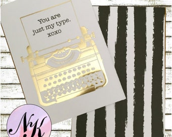 Gold Foil Cover,You Are Just My Type,Planner Cover, cover, inspiration print, Framable art, use with Erin Condren Planner(TM), Happy Planner