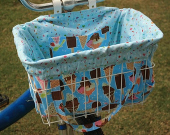 I Scream You Scream Bike Basket Liner and Purse in One