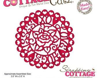 Die - Cut rosette matrix Pink 8.9 cm CC4X4 561