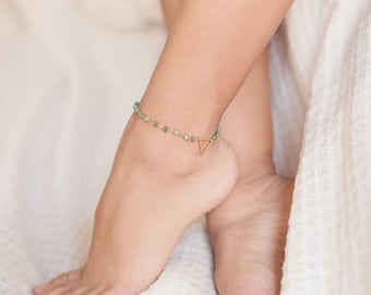 dainty body for etsy gold ankle jewelry c bracelet beach anklet anklets il opal her