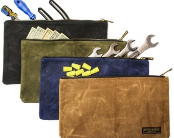 Readywares Waxed Canvas Zipper Bags 4-Pack