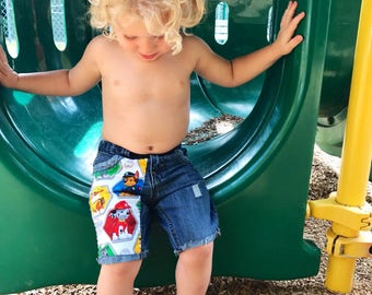 Boys Paw Patrol Patched Jeans Distressed Boys Jeans Boys Pants//Shorts Paw Patrol Birthday