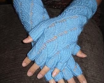 Custom Mermaid fingerless gloves