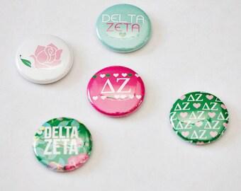 """Delta Zeta 1"""" Buttons, Sorority Buttons"""