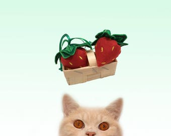 Freak Meowt, Handmade, Unique,  Canadian Catnip cat toys, Scrumptious Strawberries, cool cat toys, gifts for cats, catnip toy, cat toy
