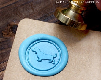 Buy 1 Get 1 Free - Wax Seal Stamp - 1pcs Dachshund Dog Metal Stamp / Wedding Wax Seal Stamp / Sealing Wax Stamp (WS037)