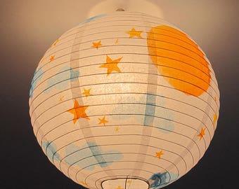 "Ball lamp hand - decorated ""Heaven"" theme LB5"