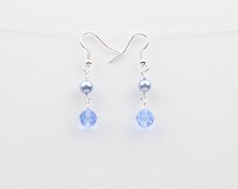 Light Blue Sapphire Swarovski Crystal Earrings – Sapphire Crystal – Blue Sapphire Earrings – Dangle Earrings