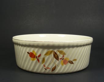 Casserole Dish by Hall in Autumn Leaf Pattern for Jewel Tea Company 3 Pint French Baker