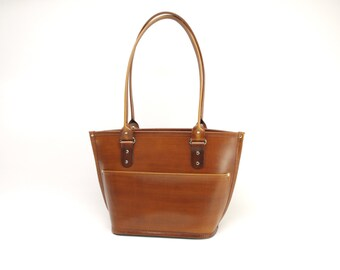 Medium Leather Tote Bag v2