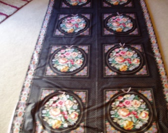 Flowers Flowers Flowers Throw Quilt/Blanket