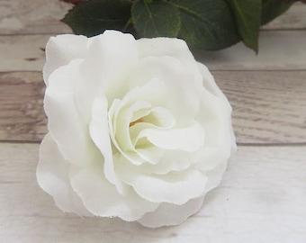 beautiful white fabric flower, Camellia