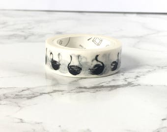 Black Swan Washi tapes - Swan Washi Tapes - Swans Washi Tapes - Swans Tapes