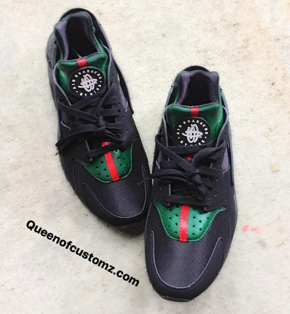 Black Inspired Nike Huaraches Custom