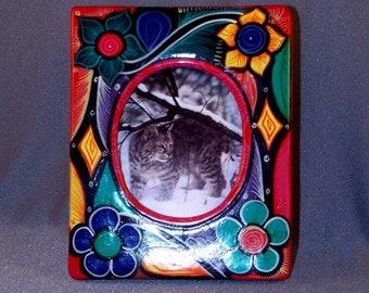 Mexikanische handgefertigte Bilderrahmen / / Ton / / bunte / / ziemlich / / handbemalt / / Geschenk / / ein Stück / /