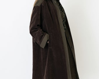 VINTAGE Corduroy Brown Retro Coat