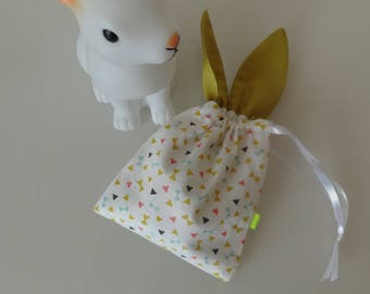 Little bunny pouch to hide sweets or a surprise!