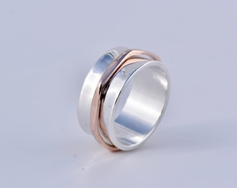 Two Tone Spinning Ring