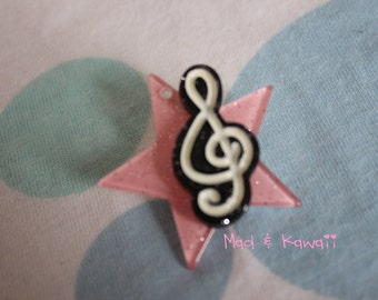 I want to be a star brooch