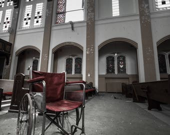Abandoned church in Chicago. Printable and available for instant download!