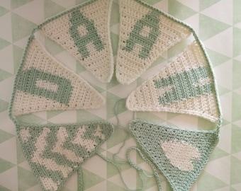 Crochet Name Garland