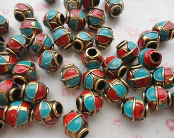 100pcs antique bronze color 12x12mm plastic bead, CCB bead , B3003-100