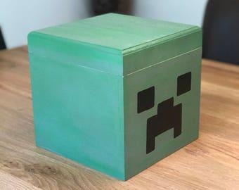 Minecraft inspired storage box - Creeper