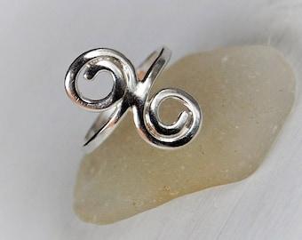 Stirling Silver Swirl Ring